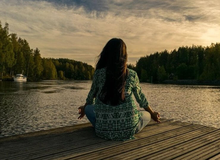 ease stress with meditation